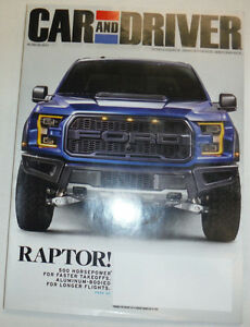 Image Is Loading Car And Driver Magazine Ford F 150 Raptor