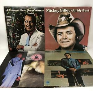Classic Country Music Lot Of 5 Vinyl LP Albums Merle Haggard Charlie Rich