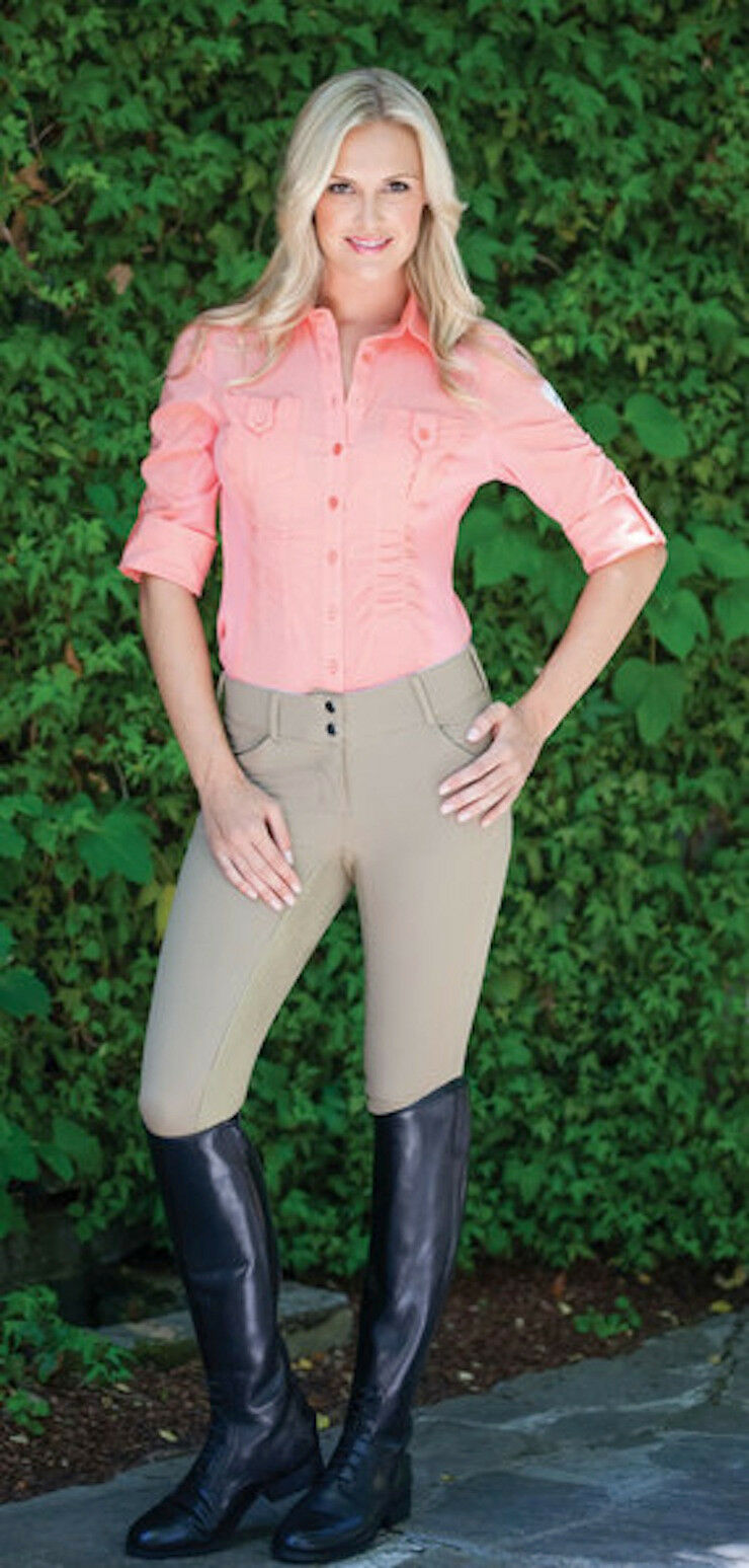 Goode Rider Perfect Fit Full Seat Breech-Khaki-32R   factory outlet online discount sale