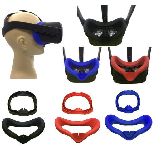 Blau//Rot Eye Mask Pad Cover Silikon Hülle für Oculus Quest VR Brillenglas Schwar