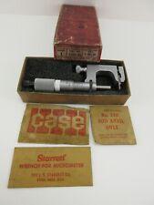Starrett 220a Rl Anvil Micrometer With Original Box And Paperwork