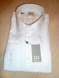 NEW-250-IKE-BEHAR-Mens-Dress-SHIRT-16-5-34-35-white-Made-in-USA-Cotton-BC-GOLD