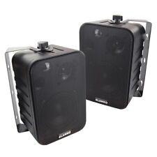 3 Wege Boxen mit Halterung schwarz Paar, 120-W Lautsprecher für Decke und Wand