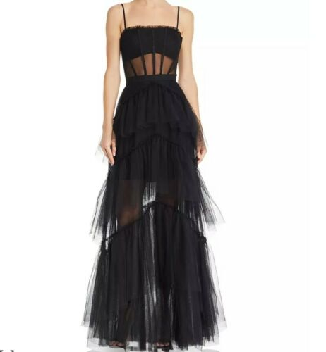 BCBG tulle corset gown size 2