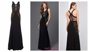 Rp£305 Lace Mignon Vm1738 Evening Cocktail Authentic Dress Uk8 New Black Gown fPqwBw