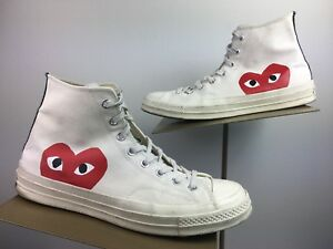 717448c7f415 Converse PLAY COMME des GARCONS Chuck Taylor HIGH TOP White Men s 10 ...