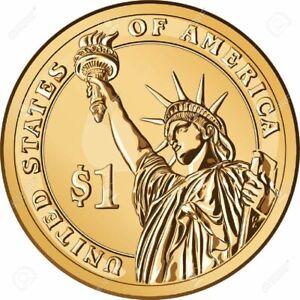 Etats-Unis-3-pieces-de-1-un-dollar-USA-Etat-NEUF-Envoi-Gratuit