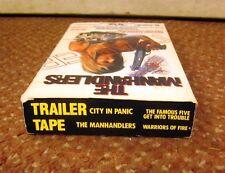 MANHANDLERS Cara Burgess 1975 exploitation CITY PANIC slasher 1987 VHS trailers