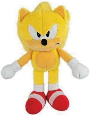 """SUPER SONIC The Hedgehog TOMY 8"""" Plush Yellow with Tags New U.S seller SEGA"""