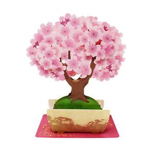 Cherry Blossom Bonsai Tree Multipurpose Pop Up Greeting Card Ebay