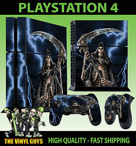 PS4 playstation 4 console autocollant smokey Crâne Dark art gothique de la peau 2 pad peau
