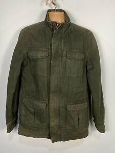Herren Fat Face medium khaki leicht wattiert Lässige 4 Pocket Utility Mantel Jacke