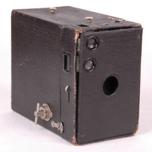 Antique Eastman Kodak Brownie Box Camera Film Model B No 2a No Handle Black Ebay
