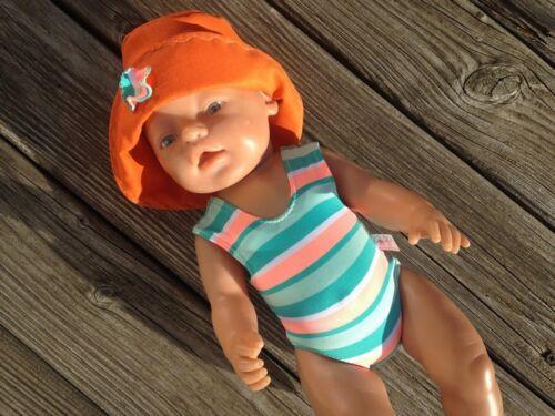 KIPU bambole ABBIGLIAMENTO COSTUME DA BAGNO CAPPELLO PER BAMBOLE BABY TG 43 cm vestiti Badeset