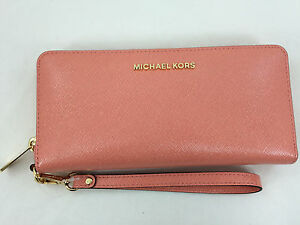 bf395b8d6d97 New Authentic Michael Kors MK Jet Set Travel Leather Continental ...