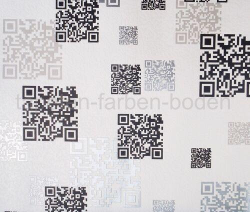 NEU Rasch 864503 weiß Vlies-Tapete QR-Code