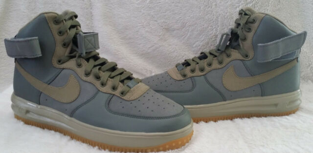 huge selection of 8442d 87917 NIKE AIR FORCE 1 HIGH PREMIUM ID GREY SUEDE   LEATHER AND GUM SOLES SIZE 9.5