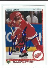 Gerard Gallant Signed 1990/91 Upper Deck Card #134