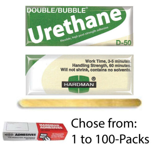 Urethane Green//Beige-Label D50 High Shear Packets 04022 Hardman Double Bubble