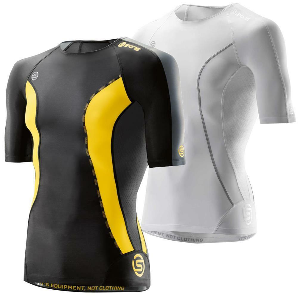 Skins DNAamic compression short sleeve top men's running gmy sports shirt