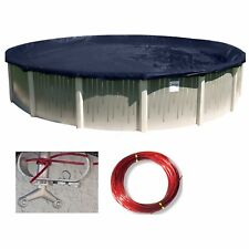 Buffalo Blizzard Round Above Ground Swimming Pool Winter Covers (Various Sizes)
