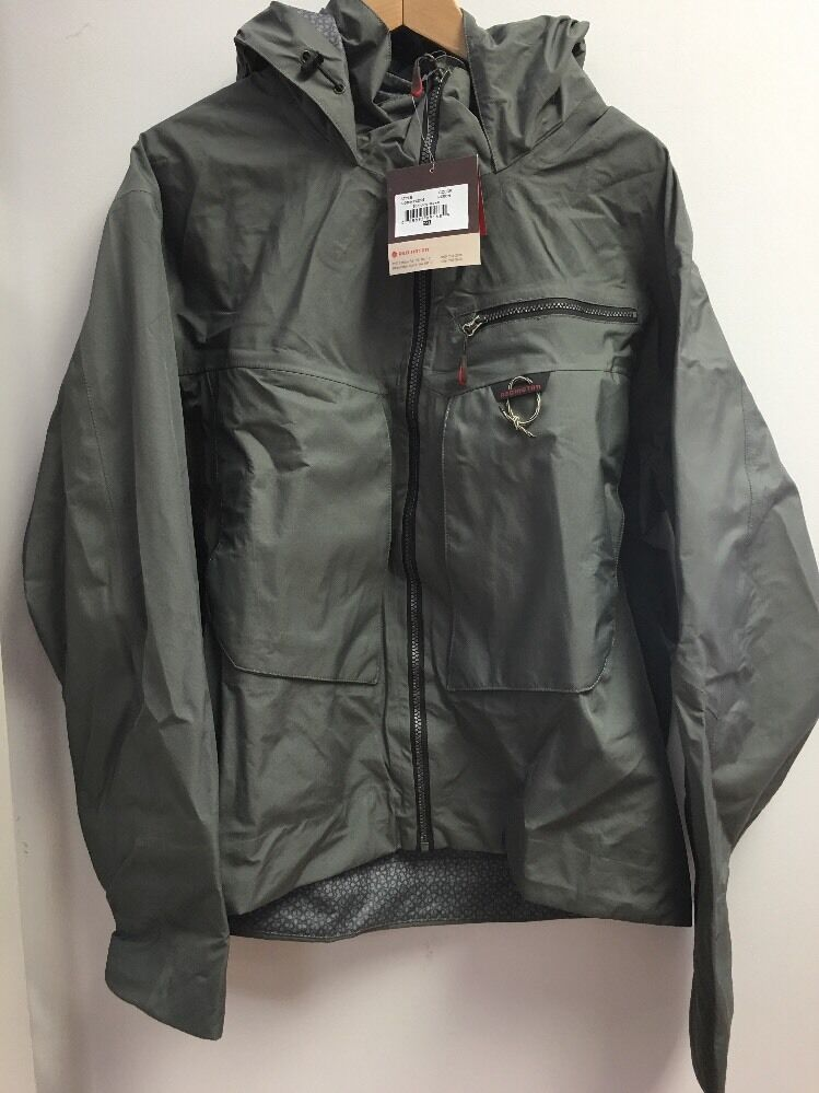 rossoington Sonic Dry Fly pesca Jacket Heron nuovo XXL