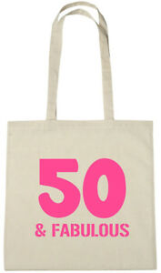 Image Is Loading 50 Amp Fabulous Bag 50th Birthday Gifts Presents