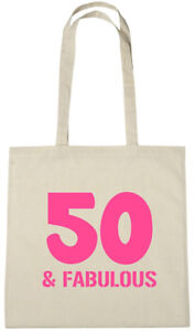 Details About 50 Fabulous Bag 50th Birthday Gifts Presents For Year Old Women Wife Mum
