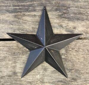 Tin-Metal-Americana-8-034-Black-Country-Barn-Star