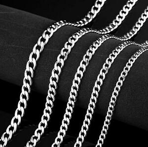 5pcs Lot Stainless Steel Fashion Thin 3mm 24/'/' Chain Link Necklace Women Men