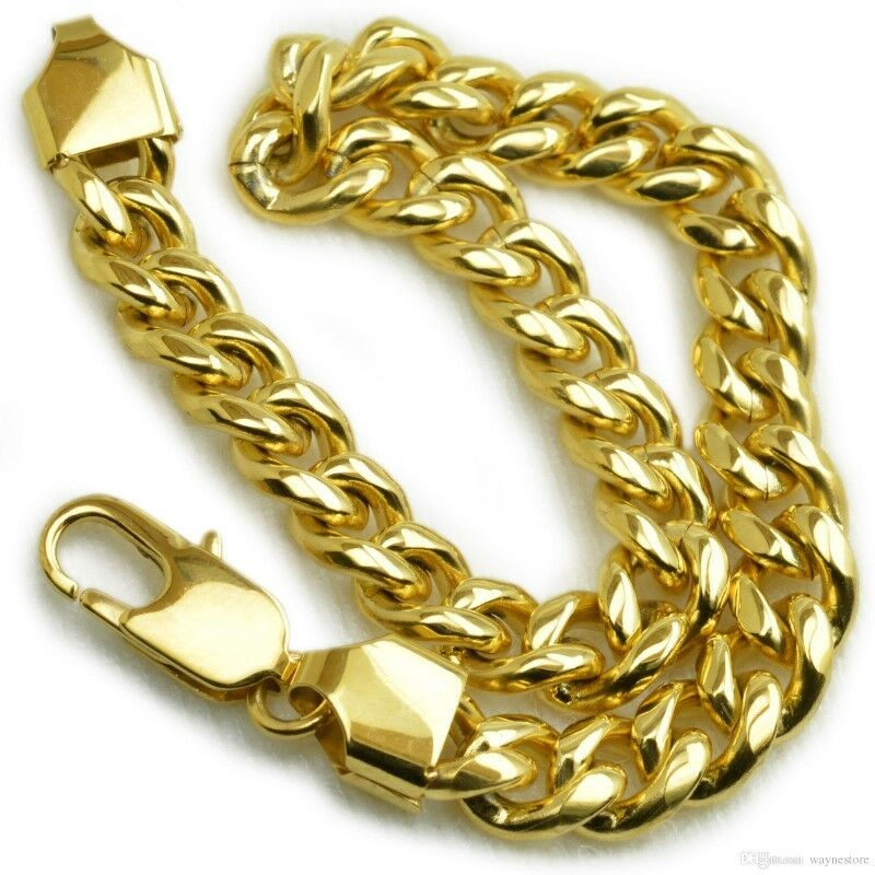 18ct Gold Plated Curb Rings Link Chain Solid Mens Womens Bracelet City Centre Gumtree Classifieds South Africa 343589802