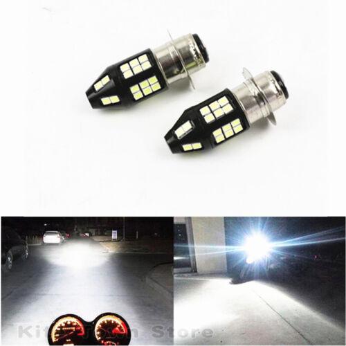 FIT Honda Rincon 650 680 2003-2015 H6 LED Blu//Wht Headlight Lights Bulbs