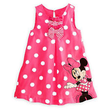 Kids Baby Girls Skirt Dress Clothes Age 9M-5Y Cute Minnie Mickey Mouse Toddler