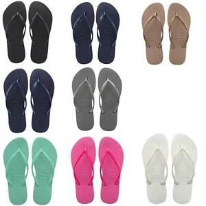 76fb4f919 Image is loading Havaianas-Slim-Women-Mint-Green-Rubber-Sandals-Size-