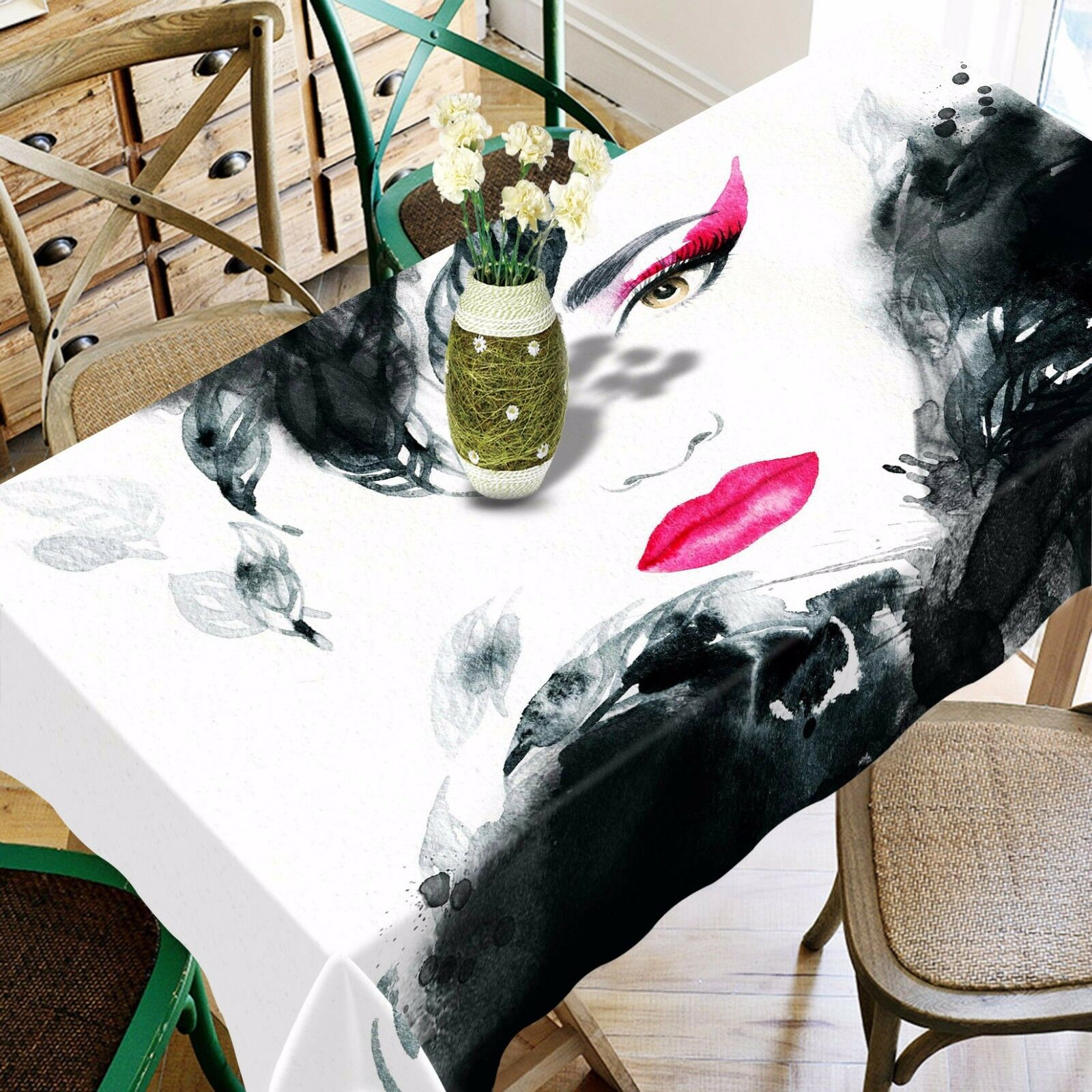3D rouge Lip Woman Tablecloth Table Cover Cloth Birthday Party Event AJ WALLPAPER