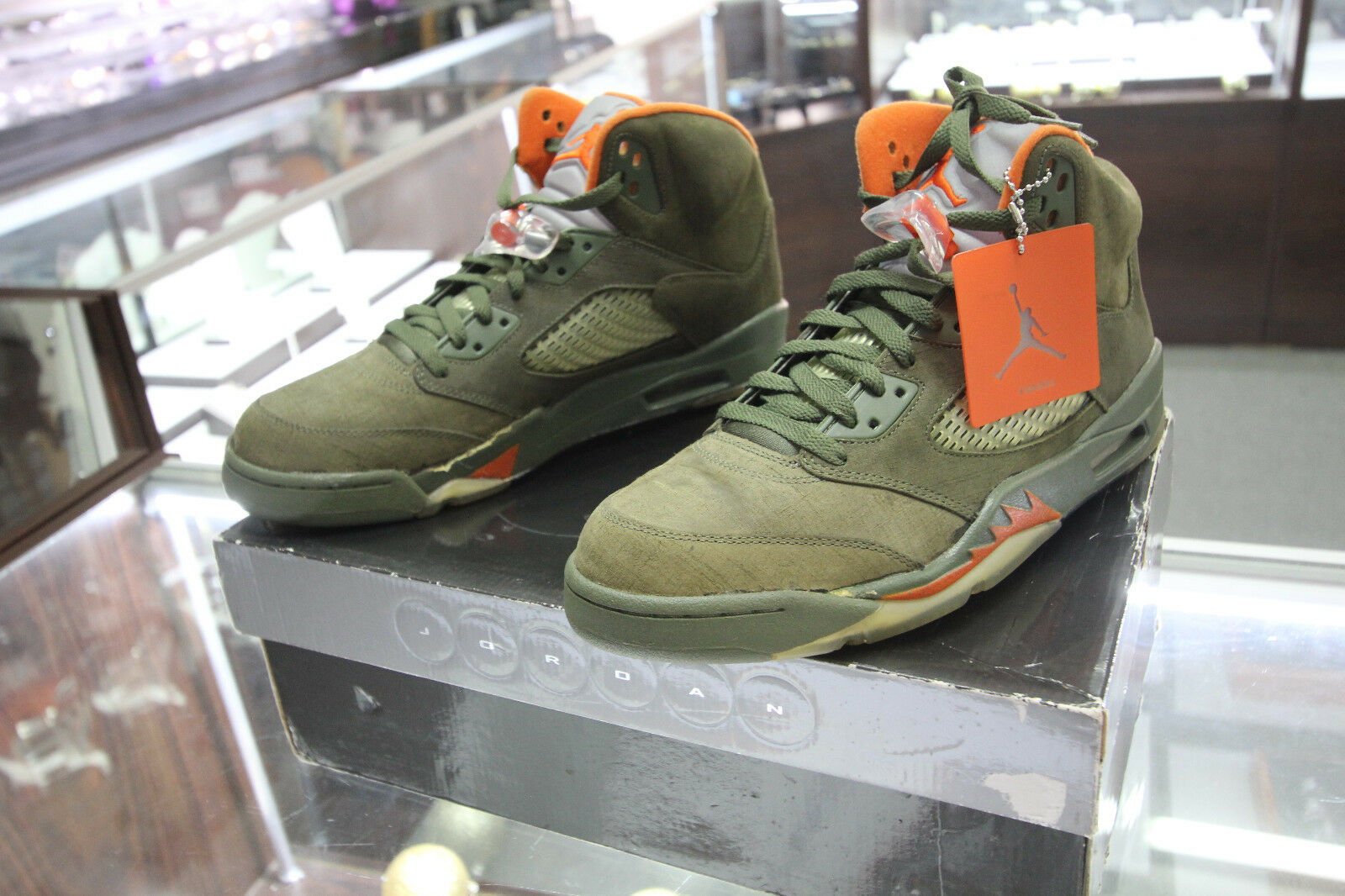 Nike Air Jordan V 5 De Retro Ejército Oliva Calzado De 5 Baloncesto De Colección 2018 [314259381]  11 b3b7f1
