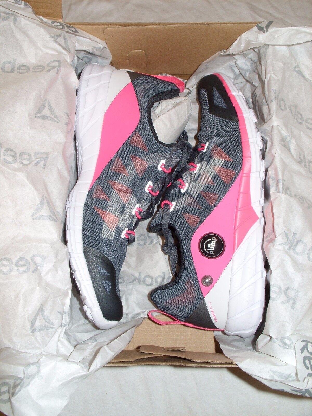REEBOK ZPump Fusion 2.0 Womens Athletic Running shoes V72140  Grey Pink NEW