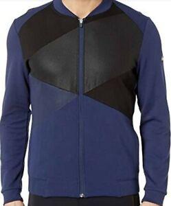 Asics-Men-039-s-Tokyo-Warm-Up-Jacket-Top-Navy-Blue-L-Large-NWT-New