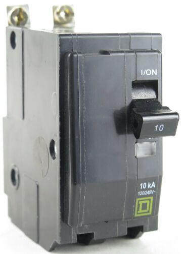 Square D QOB210 2P 10A 120//240V Bolt-On Circuit Breaker 10kA@120V