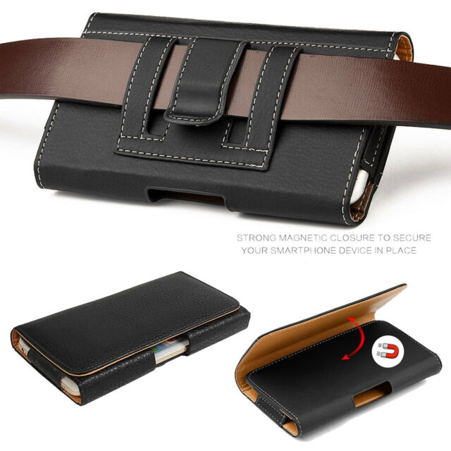 buy online ff667 cd9e8 for Samsung Galaxy S8/s9 Plus Note 9 8 Leather Belt Clip Loop Pouch Holster  Case