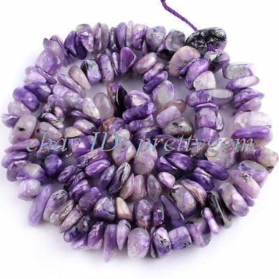 5-9mm Natural Rondelle Baroque Purple Charoite Gemstone Beads Spacer Strand 15""