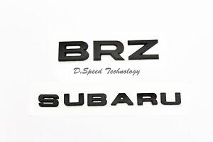 SUBARU BRZ letter Matte Black Trunk Gate emblem badge For 12-17 Subaru BRZ