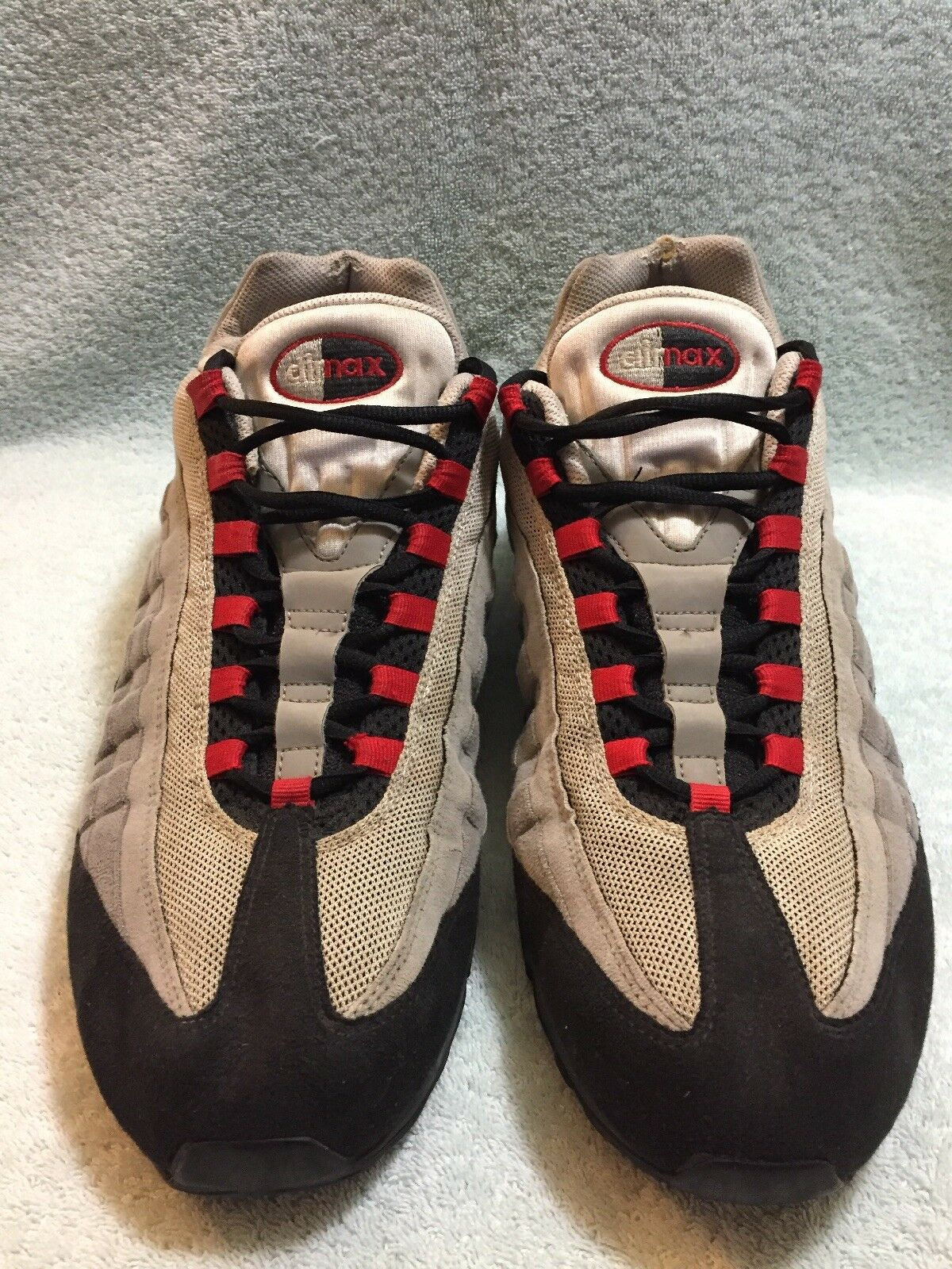 DS  Nike Air Max 95 Cool Grey Red Black White 2009 - 609048-165 Mens Size 15