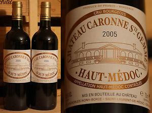 2 Fl. 2005er Chateau Caronne Ste Gemme-peau Medoc-top Millésime!!!-afficher Le Titre D'origine