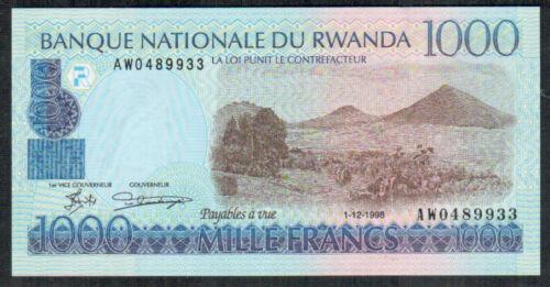 RWANDA P 27 1000  1,000   FRANCS   1998  Uncirculated