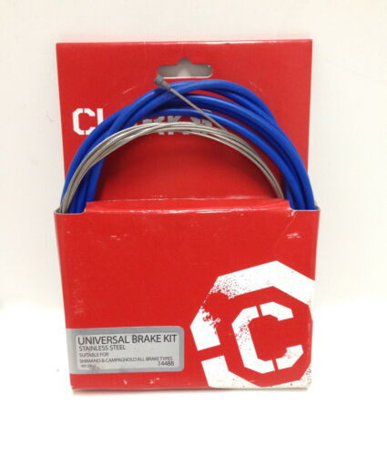 UNIVERSAL BICYCLE BRAKE CABLE /& HOUSING FRT/& RR KIT BLUE NEW