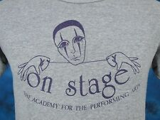 vintage 70s ON STAGE ACADEMY PERFORMING ARTS T-Shirt XS dance ballet thin 80s