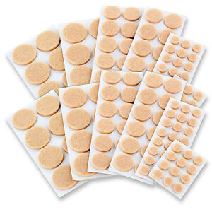 Hardwood Floor Chair Protector ... -Adhesive-Chair-Sofa-Table-Furniture-Floor-Felt-Round-Protector-Pads