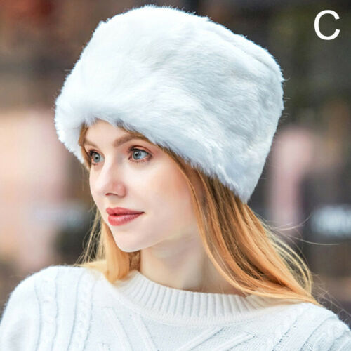 Women Russian Fluffy Hat Headband Faux Fur Outdoor Winter Earwarmer Ski Hat Cap