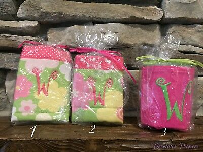 Home & Garden Fabric Koozies Initial W Your Choice Of Colors And Styles Monogrammed W Koozie
